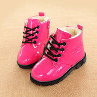 Winter New Children Snow PU Leather Ankle Boots