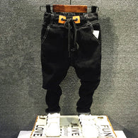 casual soft denim pants with belt
