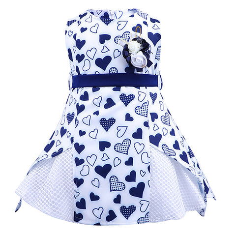 Love Printed Princess Vestidos Flower Dress
