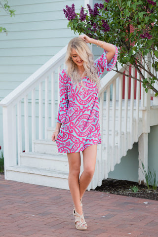 Long Sleeve Tops National Style Dress