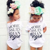 Baby girls cotton t shirt Girls Summer Letter Print Tops Short sleeve