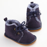 New Solid Lace-Up Boots Cross-tied For Autumn/Winter