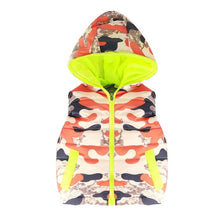Camouflage Costume Hood Sleeveless Jacket Fashion Zipper Vest