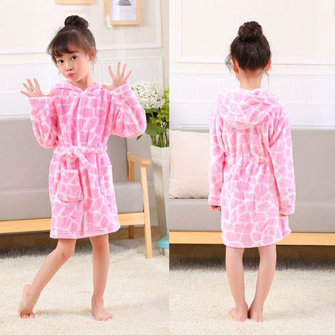 Lovely Animal Hooded Bath Robes Long Sleeve