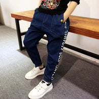 2018 new spring cotton letter jeans