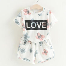 Summer Clothes Flower T-shirt + Denim Shorts