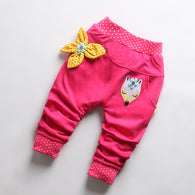Print Cartoon Bow Cotton Pants