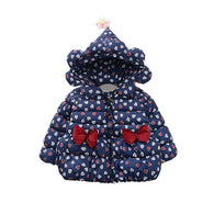 Cute Bow Love Print Warm Costume Hooded Zipper