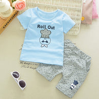 Toddler Outfits Set Lovely Cartoon T-Shirt + Shorts