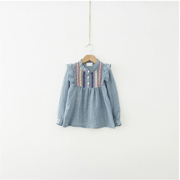 2018 Summer Baby Girls Long Sleeve Tee Shirts Ruffle