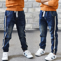 Elastic Waist Stretch Denim Pants
