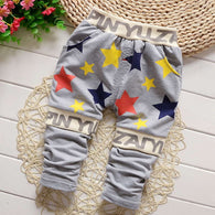 Hot sale spring candy baby pants star fashion