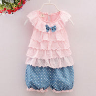 New Fashion Kid Suits Sleeveless T-shirt + Shorts