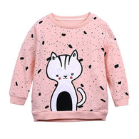 Cartoon Cute Long Sleeve O-Neck T-shirt