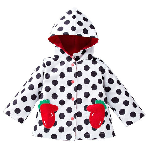 Long-sleeved Outwear Printing Polka Dot Coat