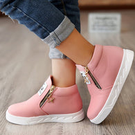 Sneakers PU Leather Plush Ankle Boots Size 26-36