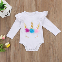 Unicorn Romper Clothes Long Sleeve