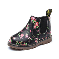 Floral Print Ankle Boots Anti Slip
