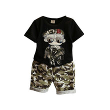 Boys Outfit set army pattern