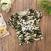 Summer Family Matching Outfits Sister Brother Kids Boys Girls Short Sleeves Camouflage Top T-Shirt
