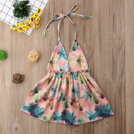 Backless Sundress Flower Outfit 6M-4T