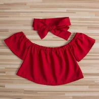 Off Shoulder T-shirt Outfits Sunsuit Ruffle Clothes