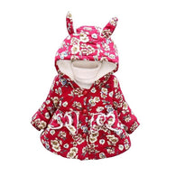 Animal Cotton Cute Floral Print Coat