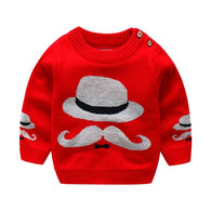 Cartoon Hats Moustache Print Sweater Causal Costume