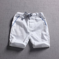 Casual Style Solid Elastic Waist Shorts