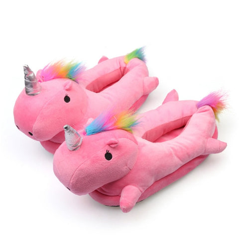 Light-up Unicorn Plush Slippers