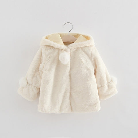 Solid Color Button Hooded Coat