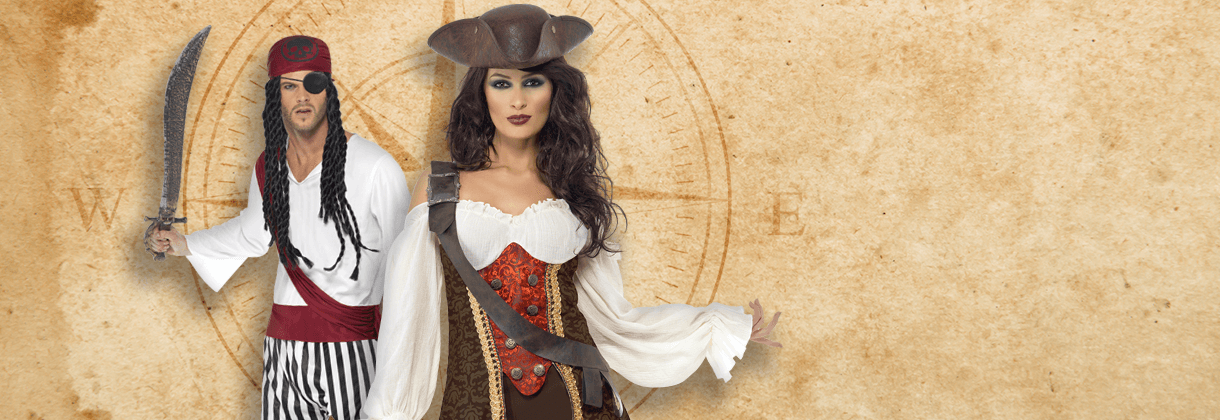Hat Ladies Fancy Dress Womens Pirates Adult Movie Costume Outfit Pirate Beauty