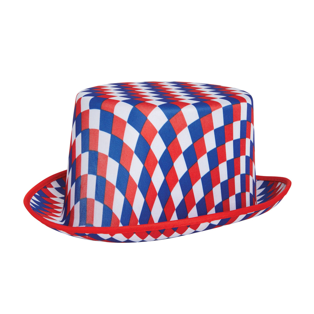 Top Hat Chequered (R/W/B)