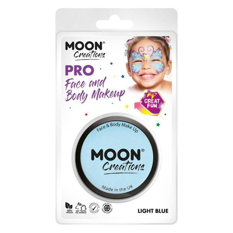 Moon Creations Pro Face Paint Cake Pot, Light Blue