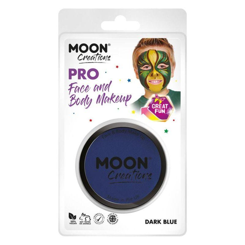 Moon Creations Pro Face Paint Cake Pot, Dark Blue