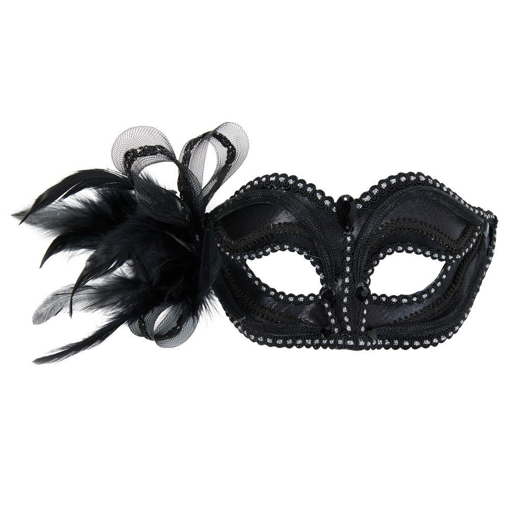 Black Mask with Side Decoration