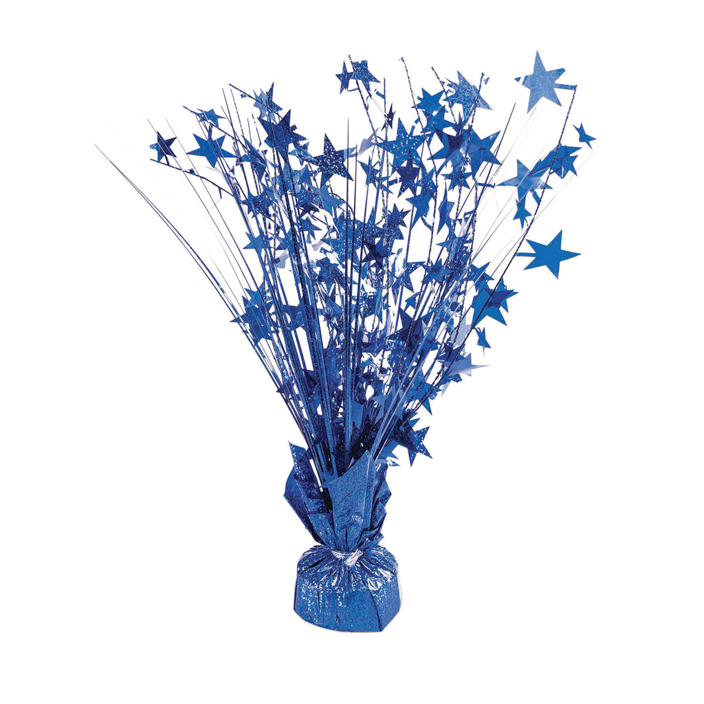 Balloon Weight Star Royal Blue Holographic