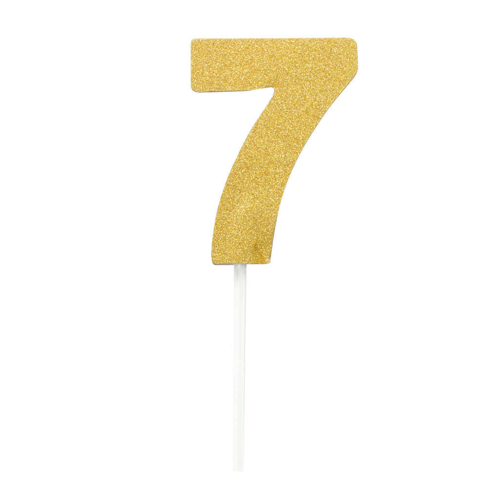 Diamond Cake Toppers Gold No. 7