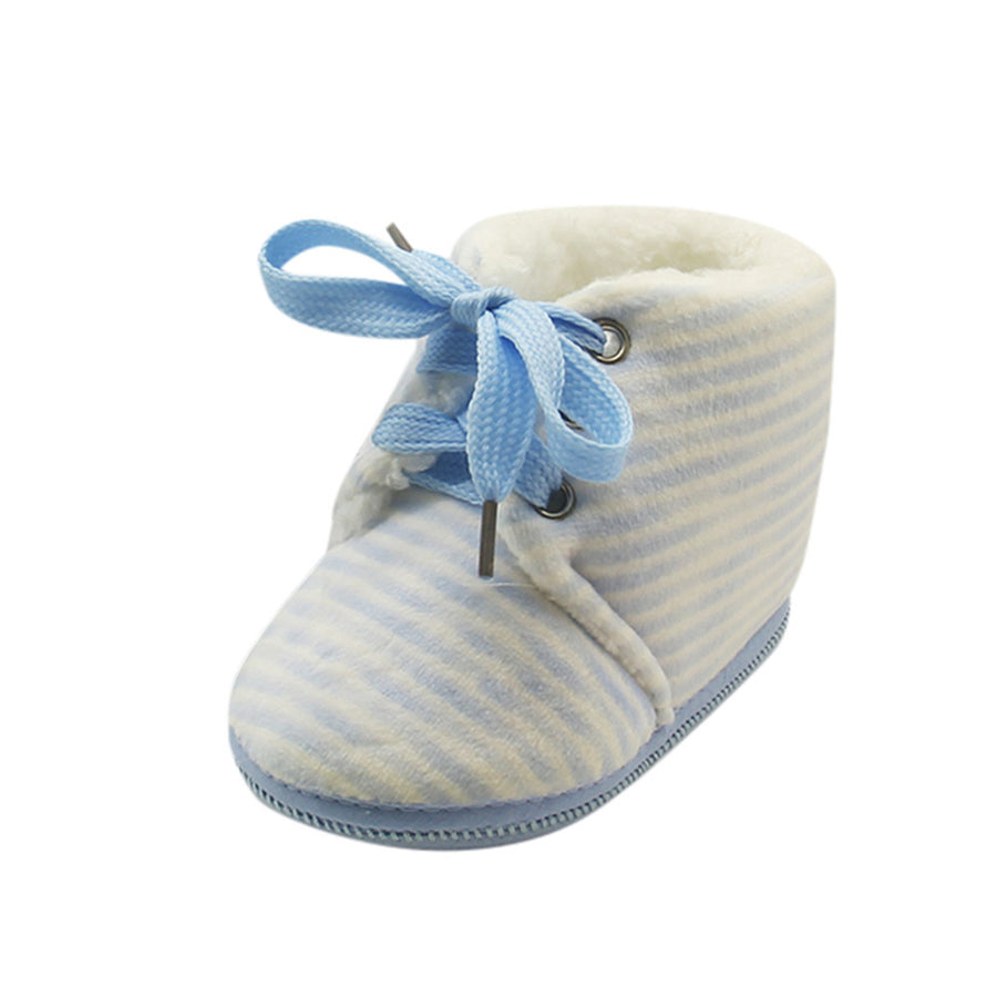 Kis Baby boots winter shoes Toddler Newborn Baby Stripe Print Boots Soft  Sole Boots Warm Shoes 169b64ab42de