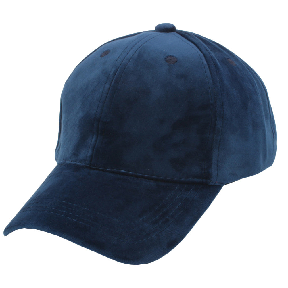 Unisex Soft Velvet Baseball Cap Solid Adjustable Sports Hat Plain ... d7888ced9a98