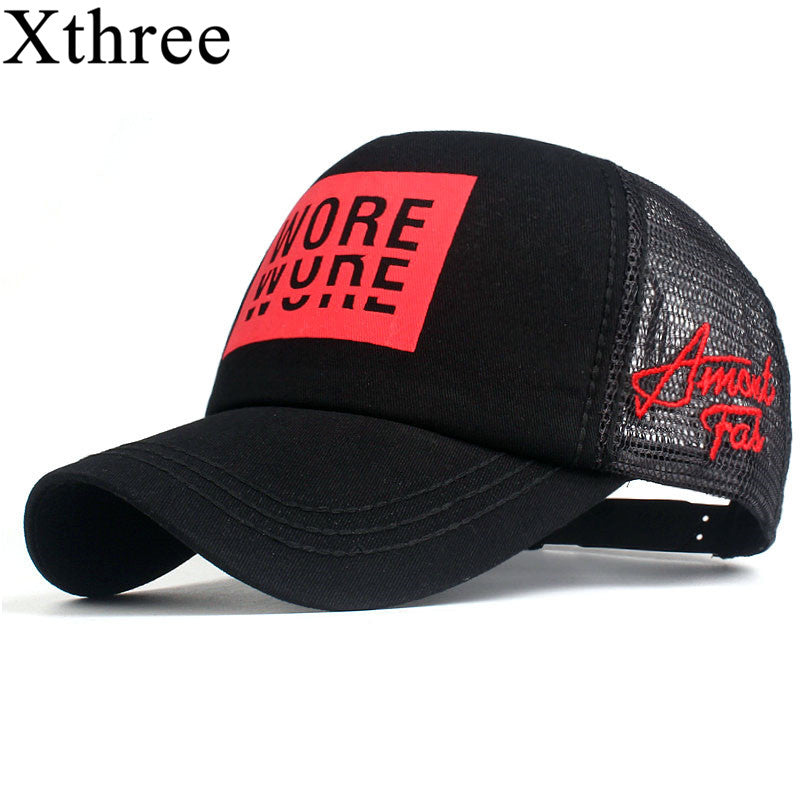 Xthree New Men s Baseball Cap Print Summer Mesh Cap Hats For Men Women  Snapback Gorras Hombre ac38bf27887b