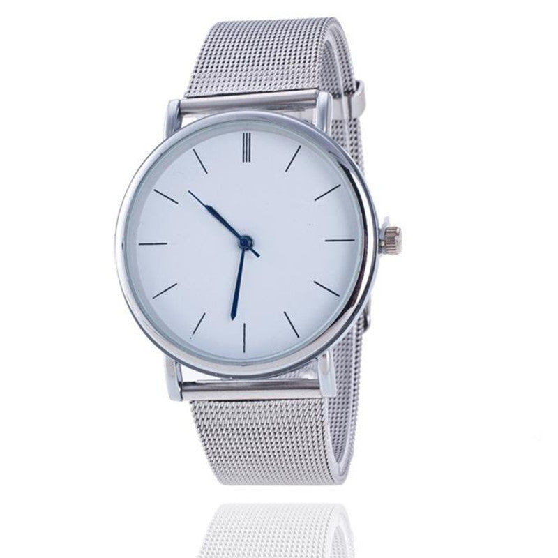 Luxury Silver Stainless Steel Watch
