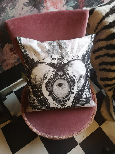 Cushion Cover - Sacred Eye Granite Organic Cotton