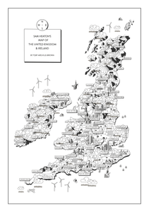 PERSONALISED UK MAP (297 x 420mm)