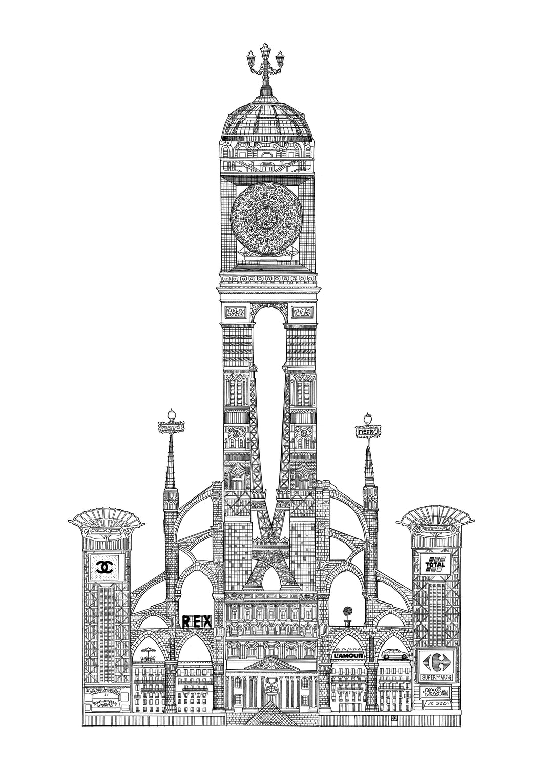 PARIS TOWER, GICLÈE PRINT (420 x 594 mm)