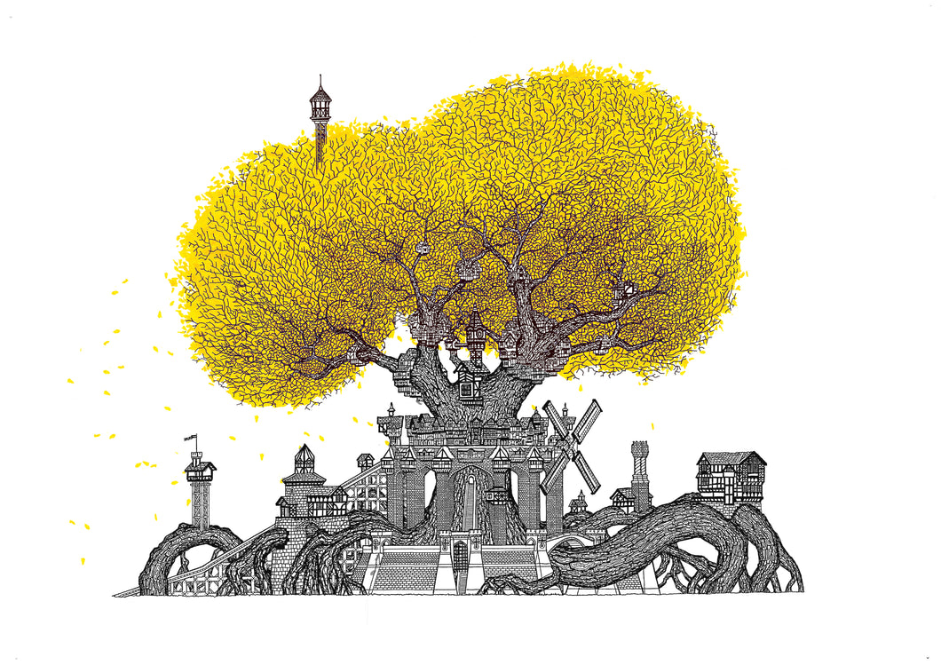 TUDOR OAK TREE, GICLÈE PRINT (420 x 594 mm)