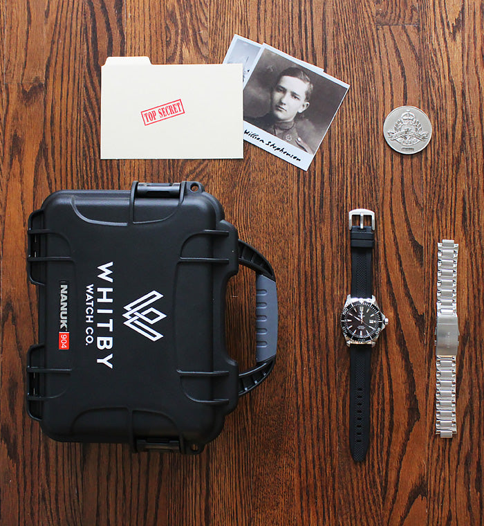 intrepid diver watch pack, Camp x inspired watch, luxury watches, whitby watch co
