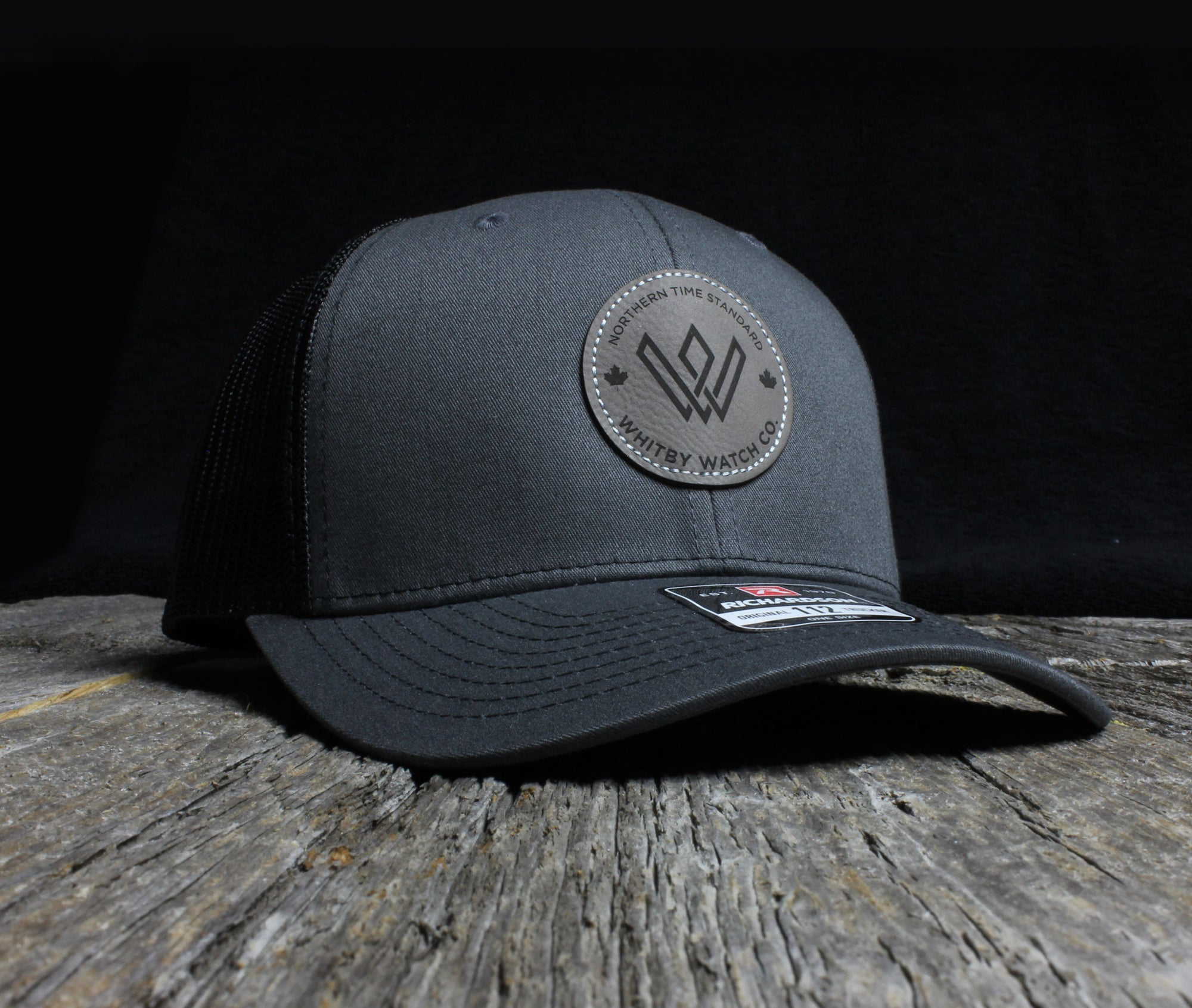 Leather Patch Cap | Charcoal