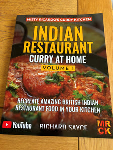 INDIAN RESTAURANT CURRY AT HOME VOLUME 1 - PAPERBACK