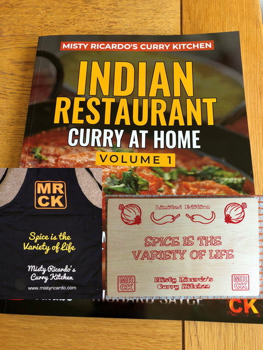 TRIPLE COMBO DEAL: Book (Volume 1), Apron and Chopping Board (limited edition)